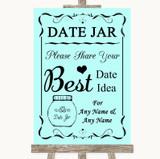 Aqua Date Jar Guestbook Customised Wedding Sign