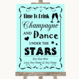 Aqua Drink Champagne Dance Stars Customised Wedding Sign