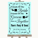 Aqua Friends Of The Bride Groom Seating Customised Wedding Sign
