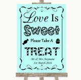 Aqua Love Is Sweet Take A Treat Candy Buffet Customised Wedding Sign