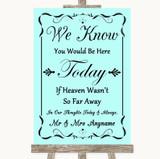 Aqua Loved Ones In Heaven Customised Wedding Sign