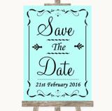 Aqua Save The Date Customised Wedding Sign