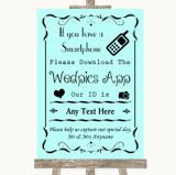 Aqua Wedpics App Photos Customised Wedding Sign