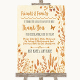 Autumn Leaves Photo Guestbook Friends & Family Customised Wedding Sign