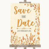 Autumn Leaves Save The Date Customised Wedding Sign