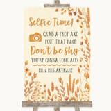 Autumn Leaves Selfie Photo Prop Customised Wedding Sign