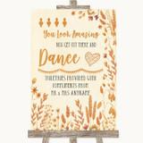 Autumn Leaves Toiletries Comfort Basket Customised Wedding Sign