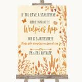 Autumn Leaves Wedpics App Photos Customised Wedding Sign