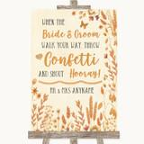Autumn Leaves Confetti Customised Wedding Sign