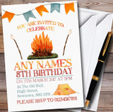 Campfire Camping Customised Children's Party Invitations