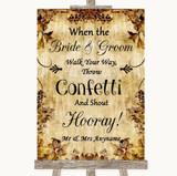 Autumn Vintage Confetti Customised Wedding Sign