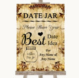 Autumn Vintage Date Jar Guestbook Customised Wedding Sign