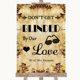 Autumn Vintage Don't Be Blinded Sunglasses Customised Wedding Sign