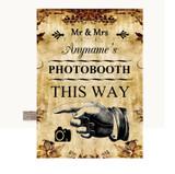 Autumn Vintage Photobooth This Way Left Customised Wedding Sign