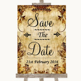 Autumn Vintage Save The Date Customised Wedding Sign