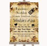 Autumn Vintage Wedpics App Photos Customised Wedding Sign