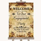 Autumn Vintage Welcome To Our Engagement Party Customised Wedding Sign