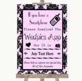 Baby Pink Damask Wedpics App Photos Customised Wedding Sign