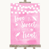 Baby Pink Lights Love Is Sweet Take A Treat Candy Buffet Wedding Sign