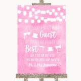 Baby Pink Watercolour Lights Photo Prop Guestbook Customised Wedding Sign