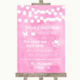 Baby Pink Watercolour Lights Pick A Prop Photobooth Customised Wedding Sign