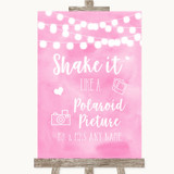 Baby Pink Watercolour Lights Polaroid Picture Customised Wedding Sign