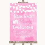 Baby Pink Watercolour Lights Selfie Photo Prop Customised Wedding Sign
