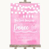 Baby Pink Watercolour Lights Toiletries Comfort Basket Customised Wedding Sign