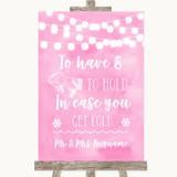 Baby Pink Watercolour Lights Wedding Blanket Scarf Customised Wedding Sign