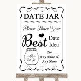 Black & White Date Jar Guestbook Customised Wedding Sign