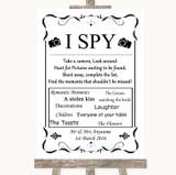 Black & White I Spy Disposable Camera Customised Wedding Sign