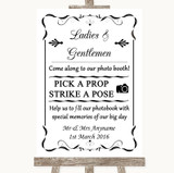 Black & White Pick A Prop Photobooth Customised Wedding Sign
