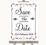 Black & White Save The Date Customised Wedding Sign