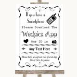 Black & White Wedpics App Photos Customised Wedding Sign
