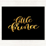 Black Gold Little Prince Quote Mouse Mat