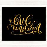 Black Gold Little Unicorn Quote Mouse Mat