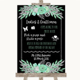 Black Mint Green & Silver Pick A Prop Photobooth Customised Wedding Sign