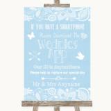 Blue Burlap & Lace Wedpics App Photos Customised Wedding Sign
