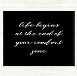 Black White Life Begins Quote Mouse Mat
