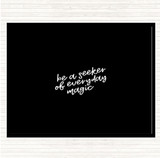 Black White Be A Seeker Quote Mouse Mat