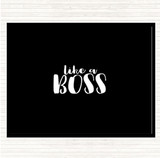 Black White Like A Boss Quote Mouse Mat