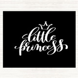 Black White Little Princess Quote Mouse Mat