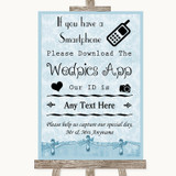 Blue Shabby Chic Wedpics App Photos Customised Wedding Sign