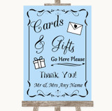 Blue Cards & Gifts Table Customised Wedding Sign