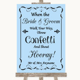 Blue Confetti Customised Wedding Sign