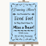 Blue Dancing Shoes Flip-Flop Tired Feet Customised Wedding Sign