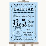 Blue Date Jar Guestbook Customised Wedding Sign