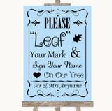 Blue Fingerprint Tree Instructions Customised Wedding Sign