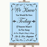 Blue Loved Ones In Heaven Customised Wedding Sign