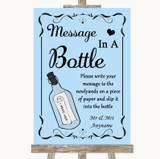 Blue Message In A Bottle Customised Wedding Sign